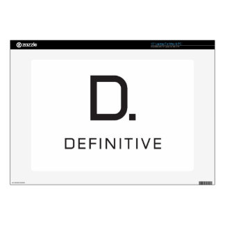 Definitive technology decal for laptop