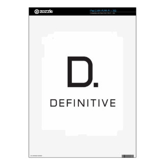 Definitive technology decal for the iPad 2