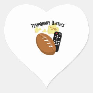 Defness temporal calcomanías de corazones