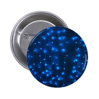 Defocused and blur image of garland of blue LED li 2 Inch Round Button