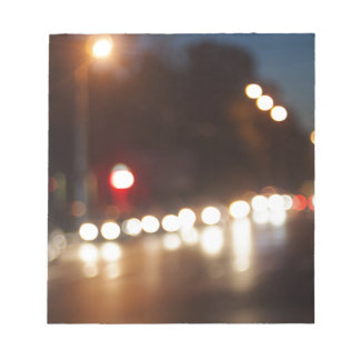Defocused and blur of night scene notepad