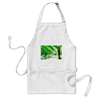 Defocused and blurred branch ailanthus adult apron
