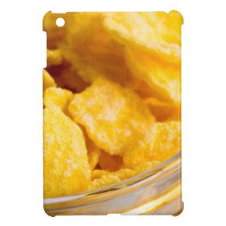 Defocused and blurred image of dry corn flakes iPad mini covers