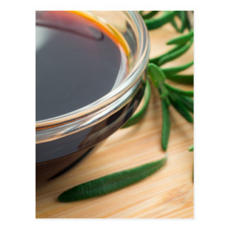 Defocused and blurred image of soy sauce postcard