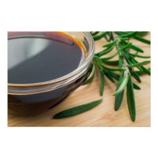 Defocused and blurred image of soy sauce poster