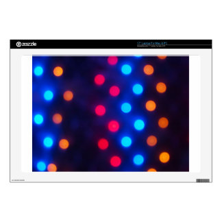 "Defocused colored lights out of focus 17"" laptop decal"