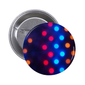 Defocused colored lights out of focus 2 inch round button
