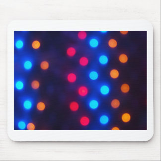 Defocused colored lights out of focus mouse pad