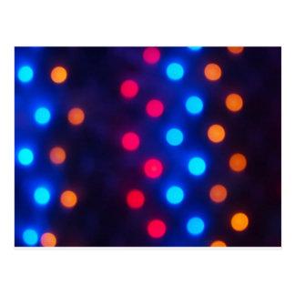 Defocused colored lights out of focus postcard