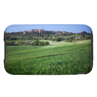 defocused grainfield with on pienza, tuscany, tough iPhone 3 case