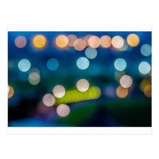 defocused lights out of focus bokeh blur night postcard