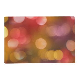 Defocused red and orange fairy lights placemat