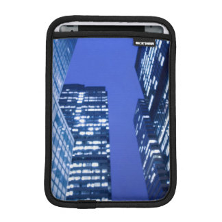 Defocused upward view of office building windows iPad mini sleeve