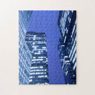 Defocused upward view of office building windows jigsaw puzzles