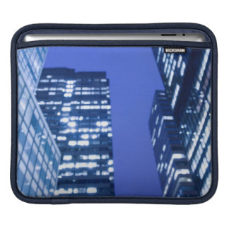 Defocused upward view of office building windows sleeves for iPads