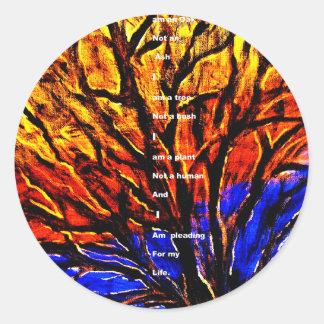 Deforestation Classic Round Sticker