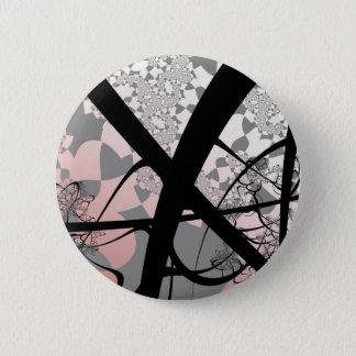 Deforestation Fractal Design Pinback Button