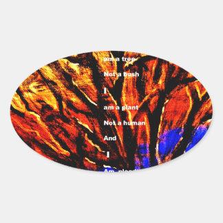 Deforestation Oval Sticker