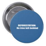Deforestation Pinback Button