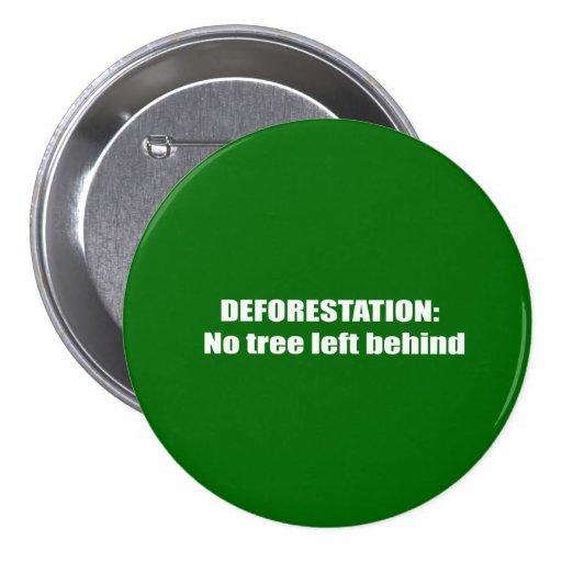 Deforestation Pinback Buttons