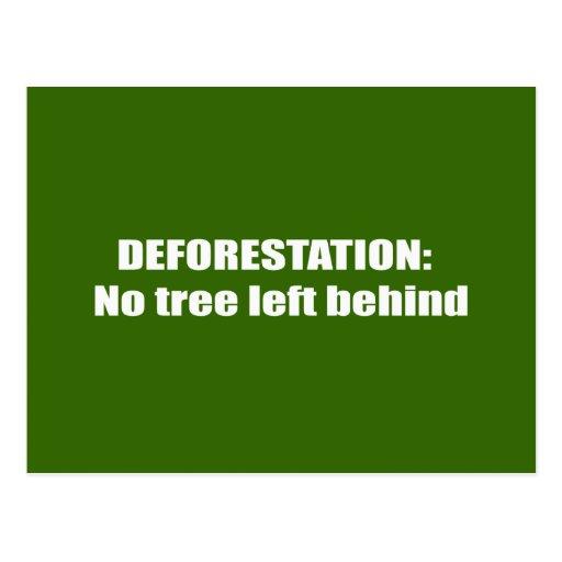 Deforestation Postcard