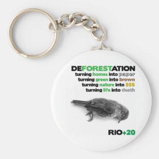 Deforestation Rio +20 Key Chain