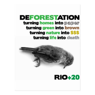 Deforestation Rio +20 Postcard