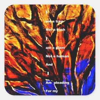 Deforestation Square Sticker