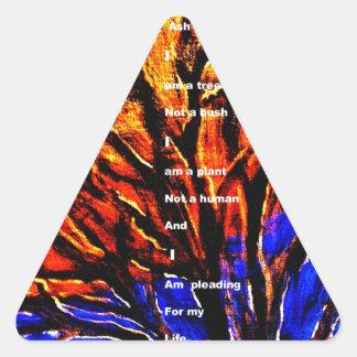 Deforestation Triangle Sticker