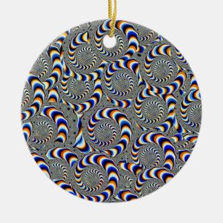 deformación adorno navideño redondo de cerámica