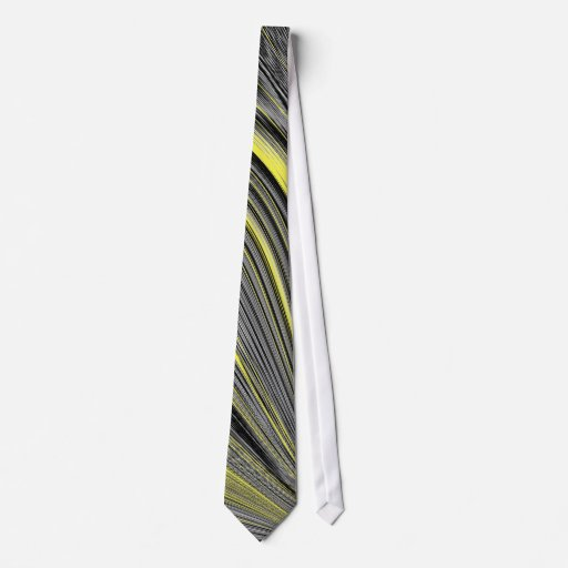 Deformación amarilla abstracta corbata personalizada