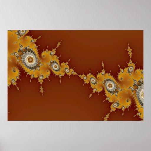 Deformación - poster del fractal