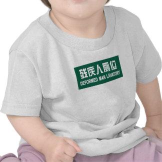 Deformed Man Lavatory, Chinese Sign Tshirt