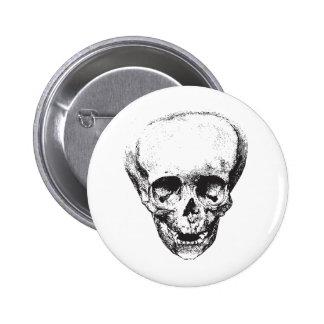 Deformed Skull Pinback Button