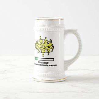 Defragmentation en curso jarra de cerveza