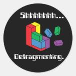 Defragmenting Round Sticker