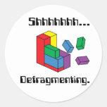 Defragmenting Round Stickers