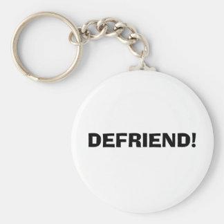 DEFRIEND! BASIC ROUND BUTTON KEYCHAIN