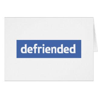 defriended greeting card