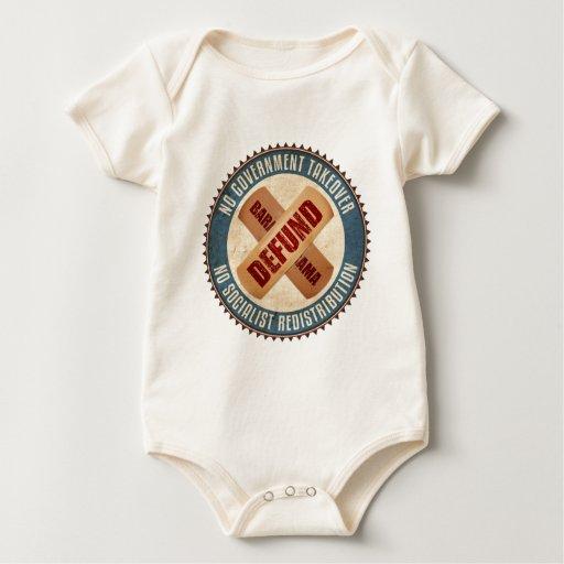 Defund Barack Obama Body Para Bebé