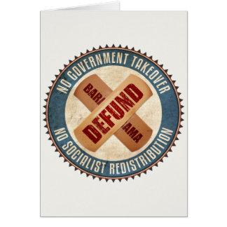Defund Barack Obama Card