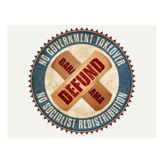 Defund Barack Obama Postcard