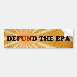 Defund el EPA Etiqueta De Parachoque