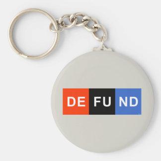 Defund NPR Llavero Redondo Tipo Pin