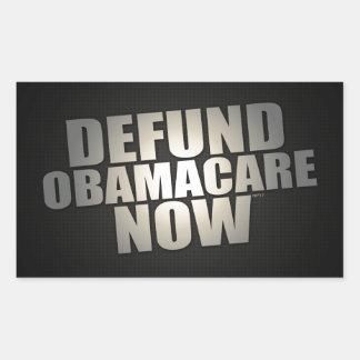 Defund Obamacare ahora Pegatina Rectangular