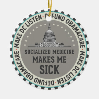 Defund Obamacare Ceramic Ornament