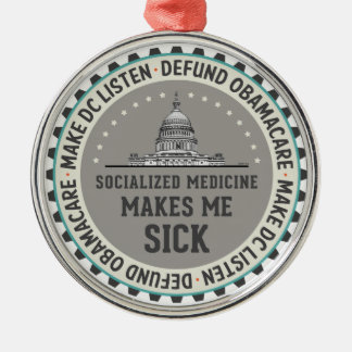 Defund Obamacare Metal Ornament