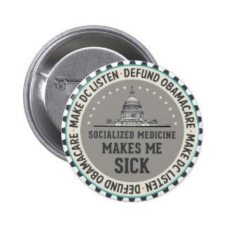 Defund Obamacare Pin Redondo De 2 Pulgadas