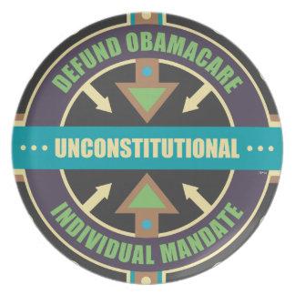 Defund Obamacare Plate