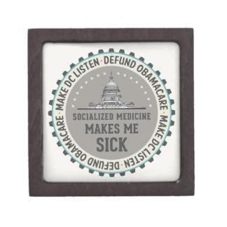 Defund Obamacare Premium Trinket Box